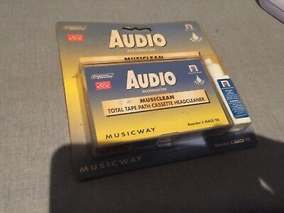 Vintage Tape Deck Head Cleaner Musicway Cassette Deck Recorder Player Cleaner
