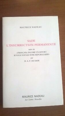 Sade, l'insurrection permanente