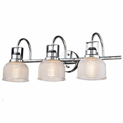 Dazhuan Industrial Vintage Glass Wall Lighting with 3-Lights Chrome Finish Wall