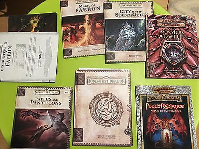 Dungeons and Dragons 3 & 3.5 Forgotten Realms Source Book Lot