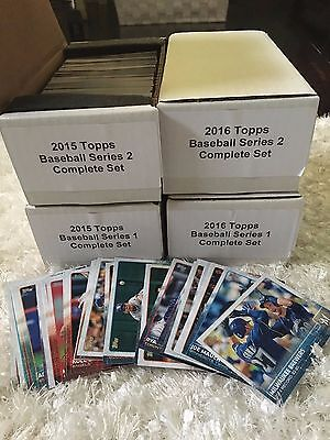 2015 2016 Topps Baseball Series 1 and 2 ~ You Pick 15 Cards to Complete Your Set