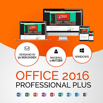 MS Microsoft Office 2016 Professional Plus Vollversion Original Business Pro
