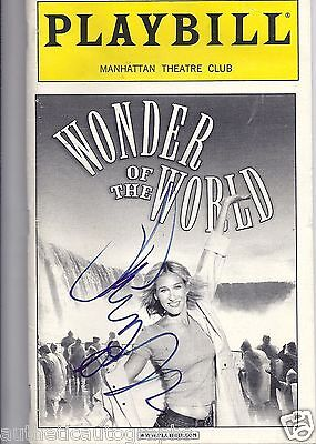 """Sarah Jessica Parker in """"Wonder of the World""""  Autographed Playbill"""
