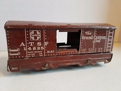 Vintage Toy Train Tin Car Santa Fe The Grand Canyon Line Hafner 5.5 Inches Long