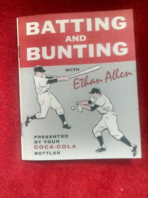 Coca-Cola. Booklet 1961 Original Batting And Bunting With Ethan Allen Good Used