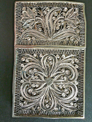 19Th Century China Chinese Silver Filigree Export Case Box 纯银丝古董盒