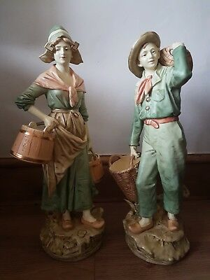 Pair of Royal Dux Style Figures