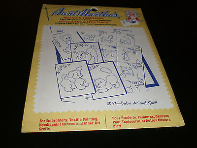 Aunt Martha's Hot Iron Transfers  - Baby Animal Quilt   - Sealed - #3047