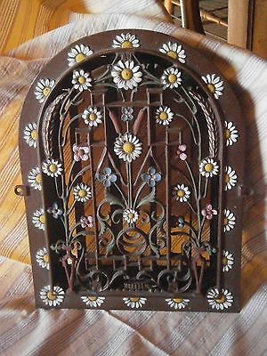 Antique Cast Iron Heat Register Arch Top Decorative Wall Register Vent