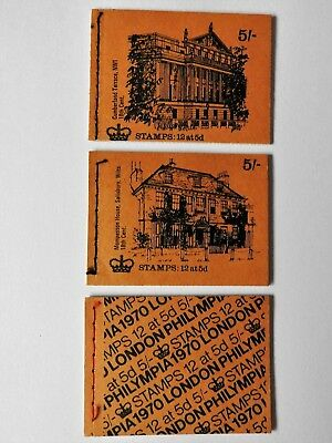 GB Pre-decimal stamp books 5 Shilling booklet 2 Historic Houses and Philympia