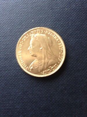 1901 Gold Sovereign- Victoria Old Head In Excellent Condition