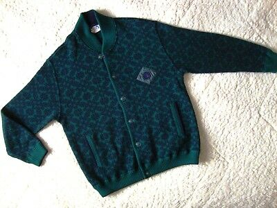 SWEATER cardigan vintage '80s  NAVIGARE TG. 5-XL circa  made in Italy RARE