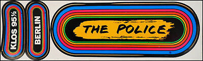 The Police / Berlin 80's KLOS Rainbow Concert Bumper Stickers Sting 95.5