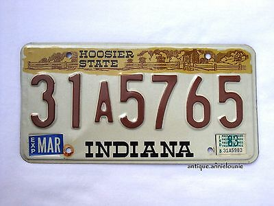1983 INDIANA Vintage License Plate HOOSIER STATE # 31A5765