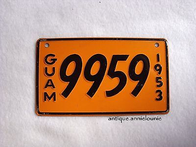 1953 GUAM Wheaties Cereal License Plate # 9959