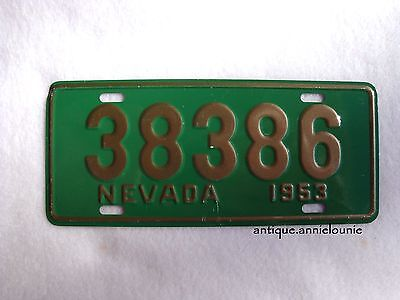 1953 NEVADA Wheaties Cereal License Plate # 38386