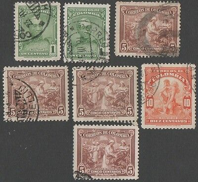 Colombia.  1939 Definitive Issues. Cancelled
