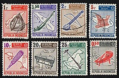 Indonesia.   1967 Musical Instruments. Cancelled