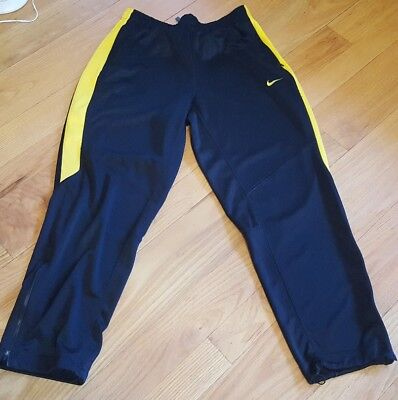 NIKE DRI FIT ~ Men's Black Yellow LIVE STRONG  Pants Athletic Gym ~ XL flawless