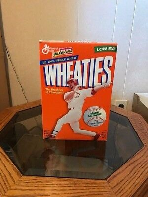 1998 Wheaties Cereal Box With Mark Mcgwire On The Cover 70 Home Runs - Full