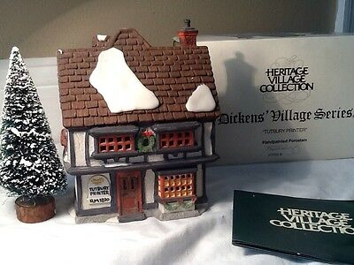 Dept 56 Dickens Village Collection Series 1990 Tutbury Printer Christmas
