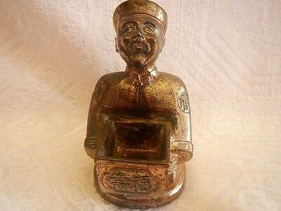 Japanese Vintage Cast Brass Man Figurine