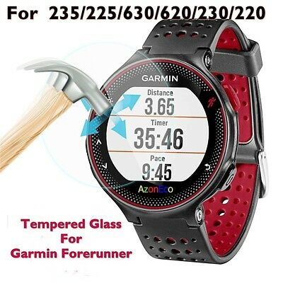 2x New Tempered Glass Screen Protector For Garmin watch 220 225 230 235 620 630