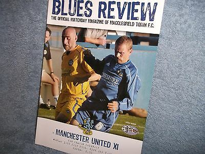 Macclesfield V Manchester United 31-7-2006  Friendly Football Programme