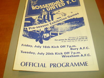 Rossendale United v Bury / Wrexham 1990's Friendly