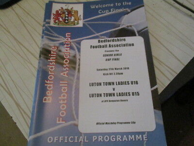 Luton Town  Ladies U16 V Luton Town Ladies U15   Cup  Final  L@@k