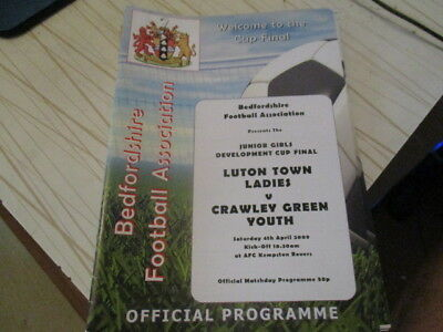 Luton Town Ladies  V  Crawley  Green  Youth  2009  Cup  Final  L@@k