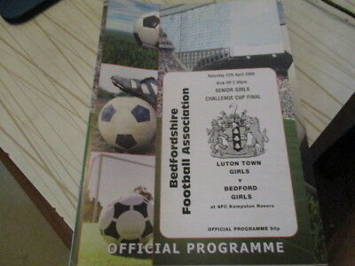 Luton Town Girls  V  Bedford Girls  2008  Senior Girls Cup Final  L@@k