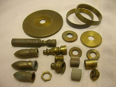 Vintage Lamp Parts Finials Brass