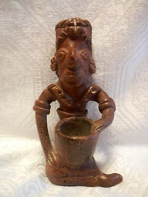 Aztec or Mayan Man Figurine/ Statue Vintage Mexican