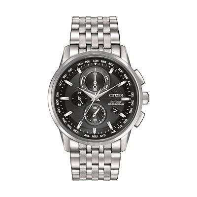New Citizen Men'S Eco-Drive Radio Controlled World Time Chrono At8110-53E