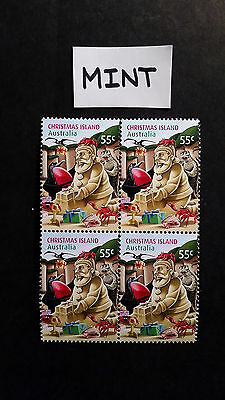No-1-2012   CHRISTMAS   ISLAND--BLOCK  OF  4  STAMPS - MINT--MNH