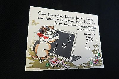 Vintage ENGLISH BULL Terrier Valentine Card c. 1920s UNUSED