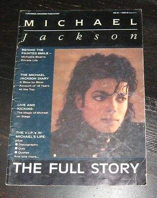 Michael Jackson BOOK The Full Story 30+ pages! PHOTOS Discography QUOTES Diary