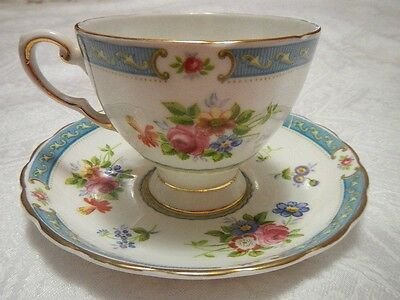 Tuscan Lowestoft Tea Cup and Saucer Made in England