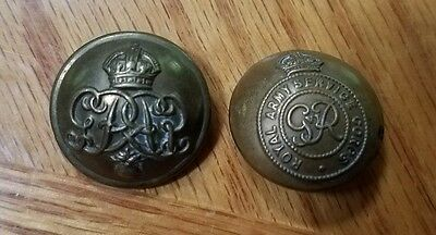 Vintage British Royal Army Service Military Coat Buttons