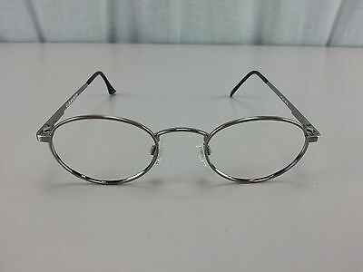 Military Issue U.S. Safety Pewter Metal Glasses Frames 48mm-22mm-145mm