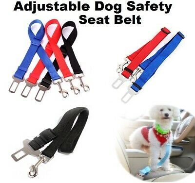 Uk Dog Pet Car Safety Seat Belt Harness Restraint Adjustable Lead Travel Clip