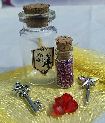 Beautiful Handmade Fairy Magic Kit with Fairy Dust in a free organza gift  bag