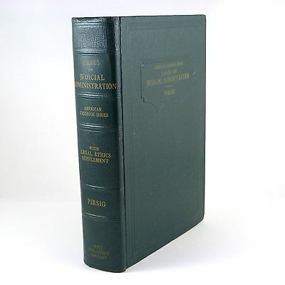 Vintage Law Book CASES AND MATERIALS ON JUDICIAL ADMINISTRATION M. Pirsig ©1946