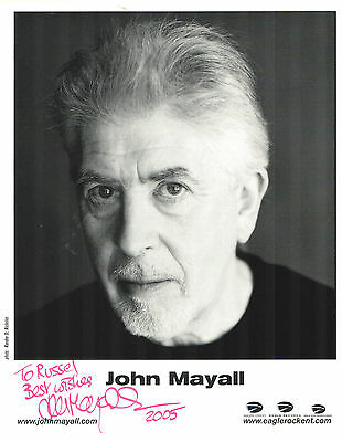 JOHN MAYALL -  2005 hand signed publicity photo - autograph blues legend