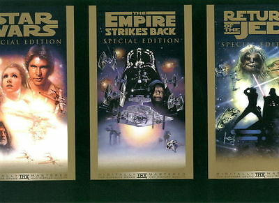"""official store promotional display card - 1997 Star Wars  11"""" X 17"""" - MINT"""