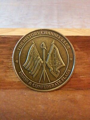 Union & Confederate Flags The History Channel Club Coin-Free Shipping
