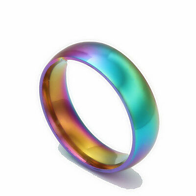 titanium rainbow lesbian gay pride ring gift love FREE POST AUS STOCK