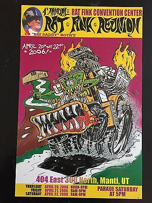 "Ed ""Big Daddy"" Roth 2006 Rat Fink Reunion Poster Unframed 100% Authentic 11x17"