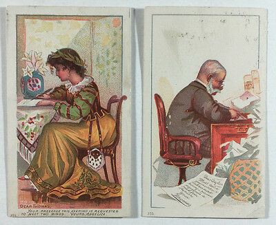 Two Victorian Greeting Cards - Victorian Humor